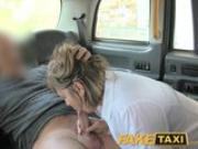 FakeTaxi Back seat anal for curvy lass in London taxi cab