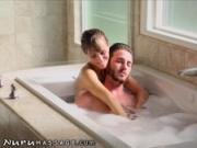 NuruMassage Stepmom Draws Bath for Son