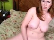 Thick and busty redhead amateur is craving a hard cock