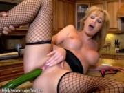 Guys fuck Angela Sommers with a cucumber