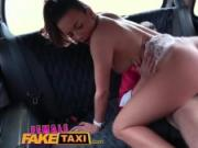 Female Fake Taxi Cheeky passenger loves drivers tits and toned body