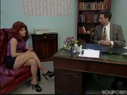 Redhead office babe gets plowed - DBM Video