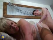 British mature BBW doing her toyboy