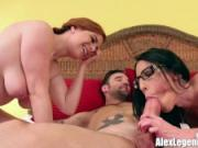 Hottest Threesome! Dava Foxx Fucks Her BFF & Her Brother!