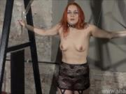 Redhead play piercing slave Marys lesbian bdsm and needle punishment of amateur masochist in harsh dungeon slavery