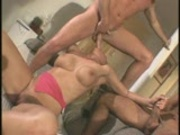 Two men treat her right