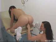 Nurse can't wait to pull her patient's white panties aside - Pt. 4/4