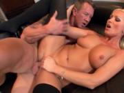Diana Doll fucked in black thigh high stockings