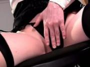 Panty play and closeup masturbation in lingerie
