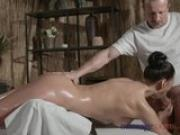 Massage Rooms Sexy Russian Milf has multiple orgasms from expert masseur
