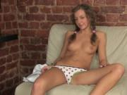 Russian teen Blonden wet masturbation