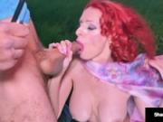 Hot Housewife Shanda Fay, Sucks Her Man s Cock In A Storm!