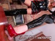 FemDom Babes Torture Balls And Want Their Asses Licked