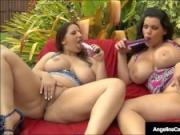 Angelina Castro & Lexxxi Lockhart Double Blow Big Black Cock
