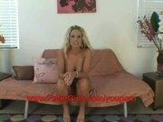 Amateur big boob blonde Tessa West 1st porn shoot
