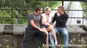 18 y.o. girl in PUBLIC on a bridge PART 1