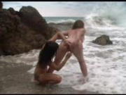 Beached Lesbians with strap-on