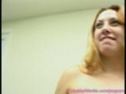 Chubby babe fucking huge Dildo