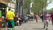 Crazy public nudity with naughty maria