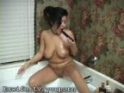 Blooper - Milf falls into bath!