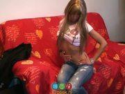 Dutch girl Carmen Diaz masturbates for camera