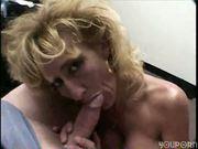 Seductive Blonde works a shaft