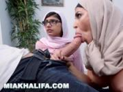 MIA KHALIFA - Arab Beauty Watches Boyfriend Get Blowjob From Step Mom
