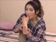 Asian is licking her own painted toes vol 05