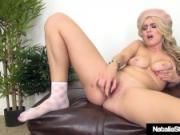 Naughty School Girl Natalia Starr Dildo Bangs Her Wet Cunt!
