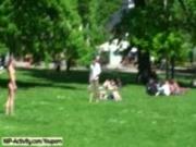 July - Hot German Flasher Has Fun In Public