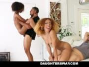 DaughterSwap - Hot Ebony Teens Fucked For Disobeying Dad