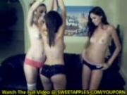 3 girls show off for the camera