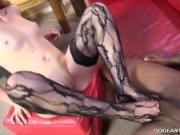 Mandy Lou jerks off BBC with her Feet