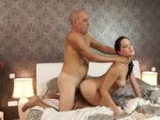 Daddy4K. Old and young copulation makes partners happy and satisfied