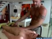 Straight guy gets a massage and hand job from gay hunk