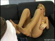 Rub My Cock with Those Panty Hose Feet