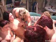 A mass lesbian orgy