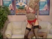 Blonde pleasures her coworkers - DBM Video