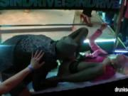 Party harlots gets fucked in public