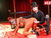 LETSDOEIT - Kinky Redhead Leah Obscure Abused In Circus Fetish Bondage