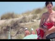 Sexy Nude Milfs Beach Voyeur Spycam HD Video teaser