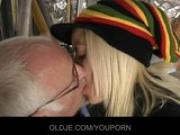 Old man fucks with his young blonde assistant