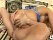 Blonde MILF Winnie is anally penetrated on the bed
