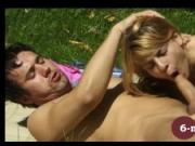 6-movies.com - Young german couple having great outdoor sex -