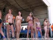 wet and hot biker babes in a contest in the iowa summer heat