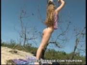 blond 18yo nudist masturbates