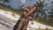Sexy Nataly fingered and ass fucked on the beach
