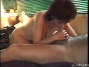 Mature lady eats all his seman