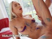 Reality Kings - Skinny Small boob blonde Angelika Grays is a work of art