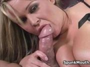 Big slutty babe Brandy Taylore tittyfucks hard for a nice cumshot